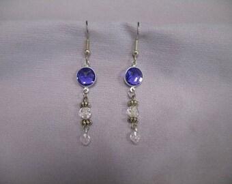 Purple Pierced Dangle Earrings