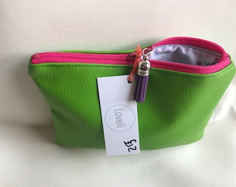 SALE! Bright Green Coin Pouch