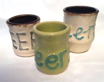 Cheers Shot Glass // Ceramic // Gift // St. Patricks // Party // bar // drinkware