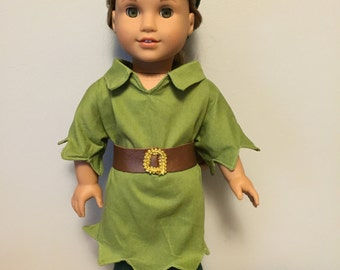 18 inch doll  size Peter Pan outfit
