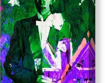 David Bowie the Duke Unionsjack/Pop Music/Rock Music/Flagge/Ziggystardust/Chameleon/BowiePoster/BowieFineart/Expressive/Sänger/Malerei