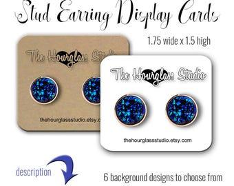 Custom Stud Earring Cards | Earring Cards | Jewelry Display | Post Earring Cards | Earring Display | Custom Jewelry Cards | Jewelry Cards