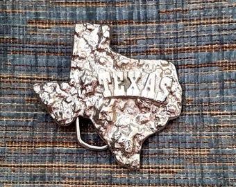 Vintage Silver Nugget Texas Buckle #6060