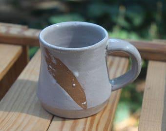 White Speckled Pottery Mug