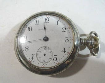 1917 Illinois Pocket Watch 17 Jewel Running Lever Set 18 Size 57mm
