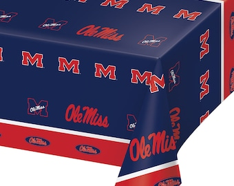 2-Pack University of Mississippi Ole Miss Premium Plastic Table Covers College Football Party