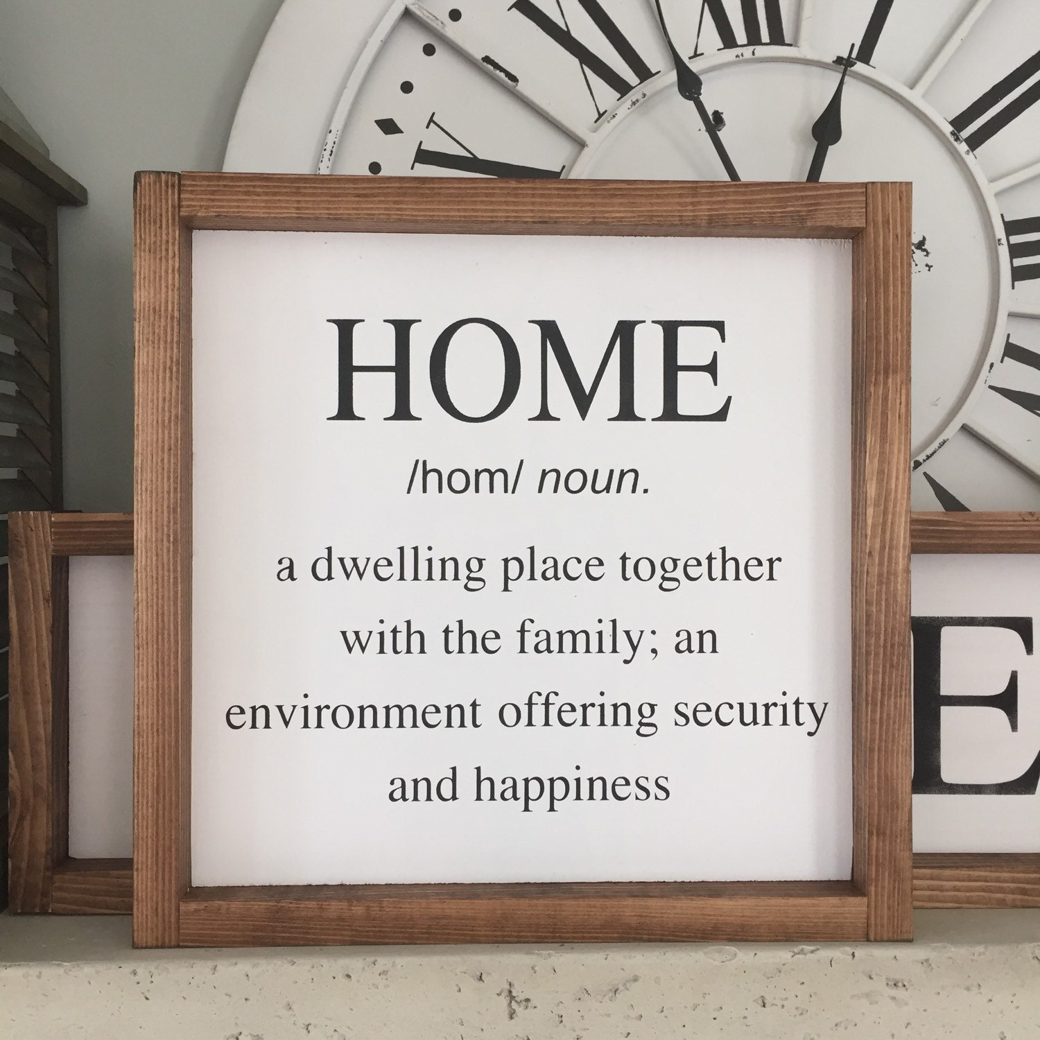 Home Definition Wood Sign Home Wood Sign Wall Decor
