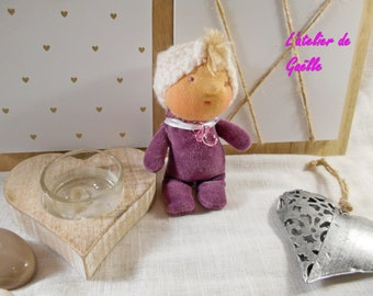 Tiny baby Waldorf 10 cm doll 100% eco-friendly, natural, fabric doll, environmental, Doll House