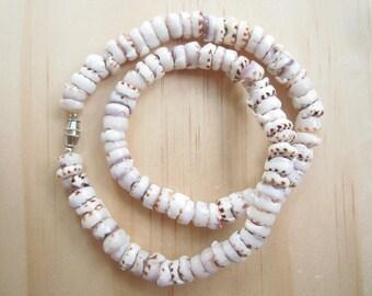 Tiger Puka Shell Necklace-Tiger Puka Shell Choker Necklace-Puka Bead Necklace-Jewelry-Beach Jewelry-Sea Shell Jewelry-Sea Shell Necklace