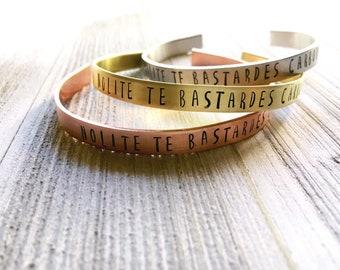 Nolite te Bastardes Carborundorum || The Handmaid's Tale || Handstamped Bracelet || Margaret Atwood || Gift