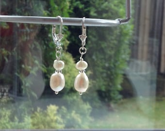 Freshwater Pearls on Sterling Silver Earrings