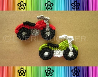 Motorcycle Applique - PDF CROCHET PATTERN