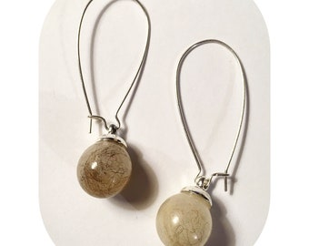 Sheeps wool Earrings