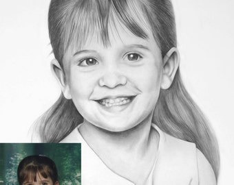 Personalized Pencil Drawing - Various Sizes