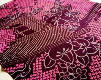 Vintage Japanese Kimono Silk Fabric | Hitta printing |
