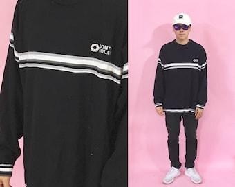 Vintage sweatshirt southpole black 1990s 1980s 90s 80s y2k millenium skater grunge hip hop