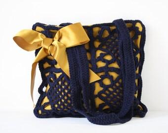 Crochet shoulderbag Barbra