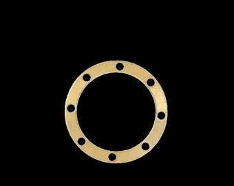 100 pcs 17 mm raw brass circle 8  hole raw brass connector charms ,raw brass findings 531R-32
