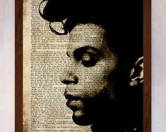 Prince Art Print, Prince Wall Art, Book Page Print, Dictionary Page Print, Prince Printable, Prince Portrait, Prince Purple Rain
