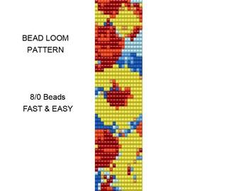 Bead Loom Bracelet Pattern - 8/0 Seed Bead Pattern - 8bead20loom
