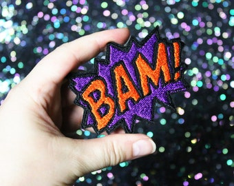 BAM Brooch, Comic Inspired Pin