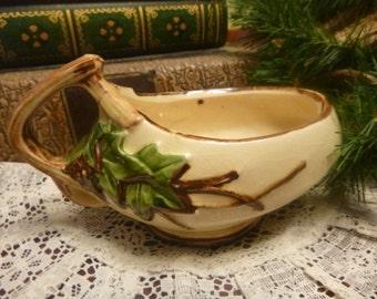 McCoy USA Ivy Pattern Sugar Bowl     (T)