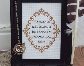 Hogwarts Quote Harry Potter Inspired Cross Stitch