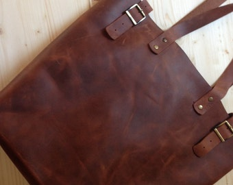 Premium Italian Leather !! Large Brown Leather Tote.Brown leather tote bag.Leather tote.Leather tote bag.Vintage leather tote.7