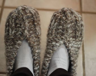 Knitting Pattern for Slippers, Chunky Knit Slipper Pattern, Knit Slipper Patterns, Slipper Pattern for Chunky Yarns, Gift to Knit