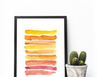 watercolor stripes orange yellow red pastel painting art download watercolour light color gradient Aquarell