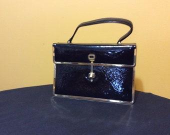 Vintage Black Patent Leather Purse Robert Bestien Original