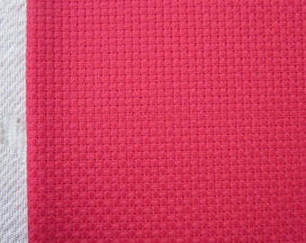 Red Aida Fabric 14 Count, 12 x 18