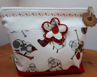 Knitting or crochet project bag/Toiletries bag