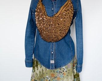 Crocheted Boho Shoulder Bag
