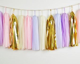 Misty Dream Tassel Garland, Pink Purple Wedding, Pink Purple Baby, Purple Baby Shower, Purple Nursery, Pink Purple Garland, Purple Birthday