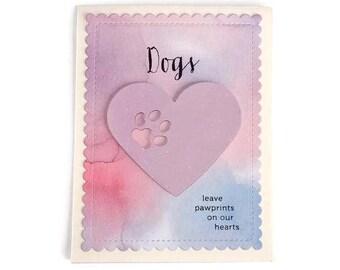 Pet Sympathy Card, Dog Sympathy Card, Loss of a Pet Card, Loss of a Dog Card, Pet Condolence, Dog Condolence, Handmade, Hand stamped