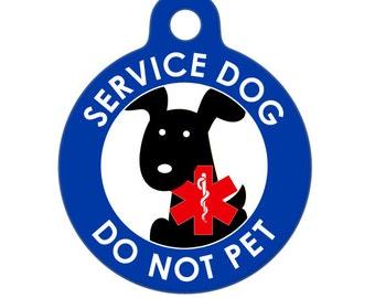Pet ID Tag - Service Dog - Do Not Pet Medical ID Tag - Medical Alert Tag, Pet Tag, Child ID Tag, Dog Tag, Cat Tag
