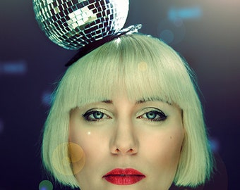 Disco Ball Fascinator Hat Party New Years Eve Fun Mirror Ball