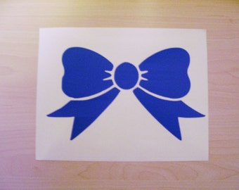 Bow Decal, car decal bow, laptop decal, wall decal, tumbler decal, wine glass decal