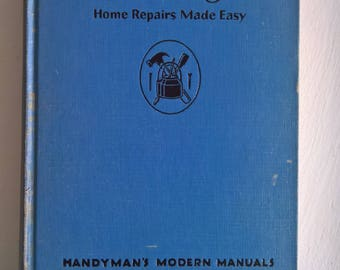 Handyman guide etsy fix it yourself home repairs made easy vintage popular science handymans modern manuals 1940s housewarming gift fixer upper house solutioingenieria Images