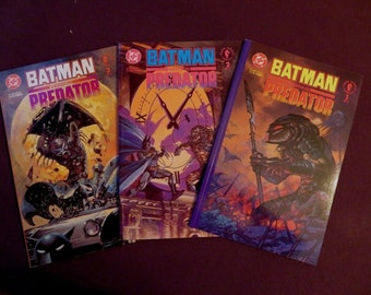 Batman Versus Predator 1, 2 3, (1991) Suydam covers, DC Dark Horse tpbet