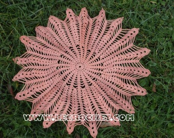 Crochet star doily