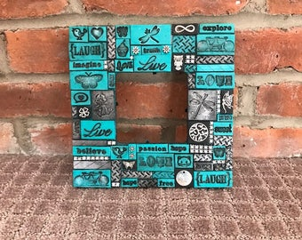 polymer clay tiled frames