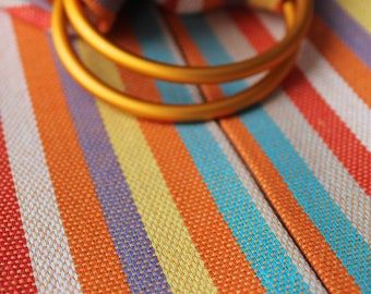 Baby Ring Sling Carrier/Rainbow Baby Sling/New Mom Gift/Pinstripes/First Mothers Day Gift/Baby Sower Gift/Cotton Sling/Ready to ship