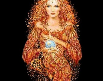 Earth Goddess Cross Stitch Pattern