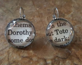 Wizard of Oz Dorothy and Toto earrings