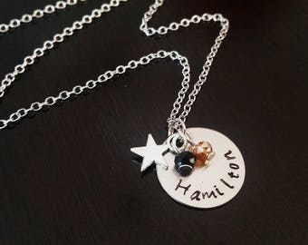 Hamilton Broadway Musical Crystal Charm Gift Necklace