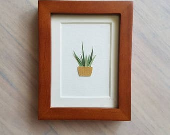 Sansevieria Plant - Original Art, Framed