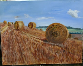 Harvest - Original Acrylic Painting - by Mary Mile /MEMsGallery/.