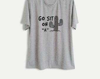 Cactus Shirt Succulent TShirt Tumblr T Shirt Plant Shirt Cacti T-Shirt Hipster Graphic Tee Women Men Teen Gifts Screen Print Shirt